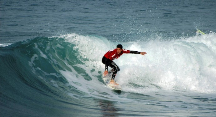 Surfing in Haifa. Photo by Flash90.