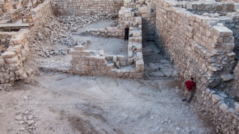 First-ever Hasmonean house discovered in Jerusalem. (Assaf Peretz, courtesy of the Israel Antiquities Authority)