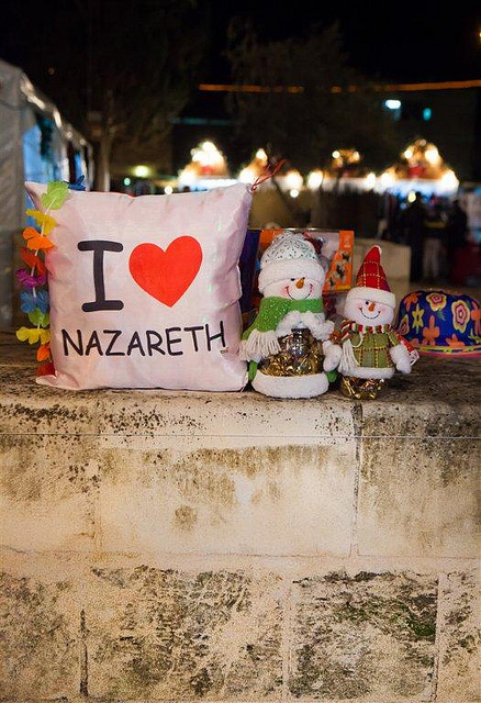 Christmas kitsch in Nazareth