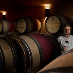 The 69-year-old winemaker in his cellar.