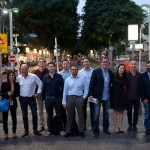 The ad-tech delegation on Tel Aviv's Rothschild Boulevard. (Ben Kelmer/British Embassy Israel)