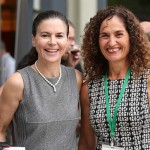 Strauss Group CEO Ofra Strauss, left, and Trendlines Agtech CEO Nitza Kardish at Agrivest. Photo by Moshe Amar Liran Shemesh