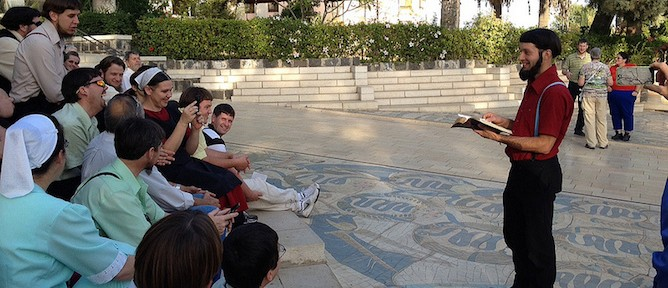 The group touring Christian sites in the Galilee. Photo by Micah Smith