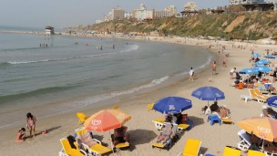 Pristine Mediterranean beaches in Netanya. Photo by Flash90.
