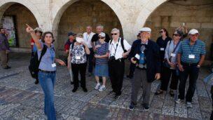 ISRAEL21c's Journey to Israel participants visiting Jerusalem. (Ariel Jerozolimski for ISRAEL21c)