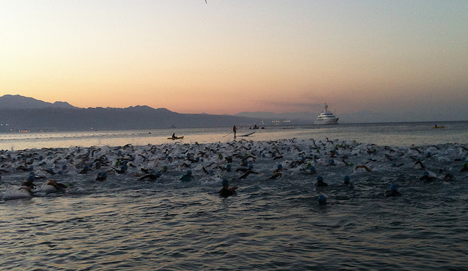 The Israman Eilat begins. Photo by Nicky Blackburn