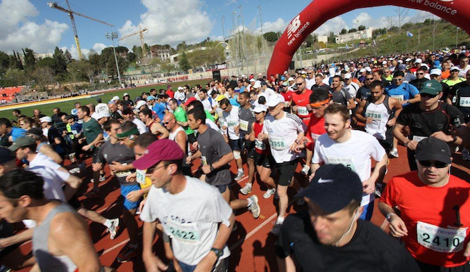 Jerusalem Marathon. Photo by Elad Sarig