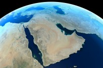 Middle East from space by Shutterstock