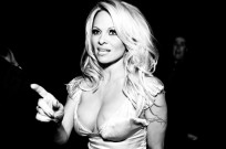 Canadian actress Pamela Anderson still sporting her golden locks before she did an Ellen DeGeneres. (Shutterstock)