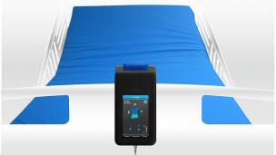 M.A.P. consists of a pressure-sensing mat wired to a monitor.