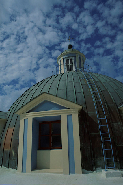 A church dome in Haifa. Photo by Doron Horowitz/Flash90