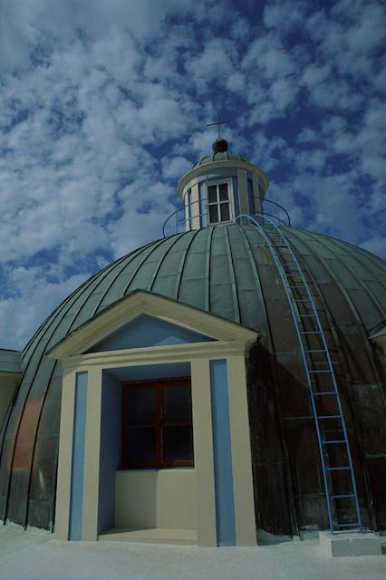 A church dome in Haifa. Photo by Doron Horowitz/Flash90