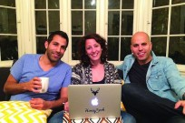 HoneyBookCTO Dror Shimoni, left, with Naama and Oz Alon. Photo: courtesy