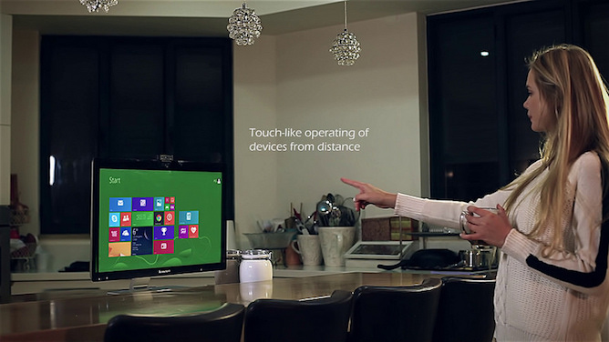 AirTouch lets you control your devices from a distance.