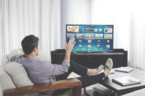 Samsung uses PointGrab tech in its smart TVs.