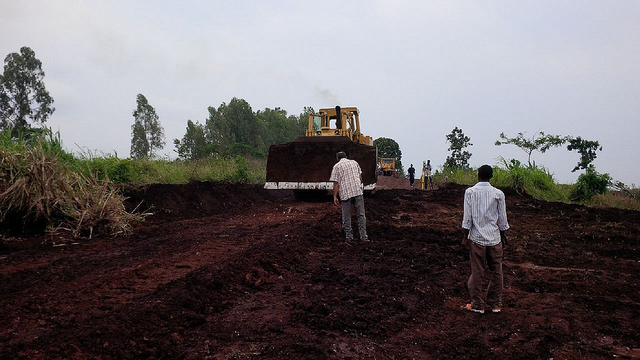Construction of the solar field is underway on land belonging to the Agahozo-Shalom Youth Village.