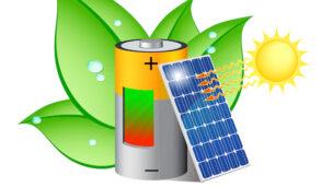 Solar battery illustration via Shutterstock.com