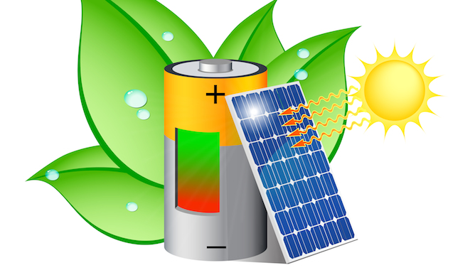 Solar battery illustration via Shutterstock.com