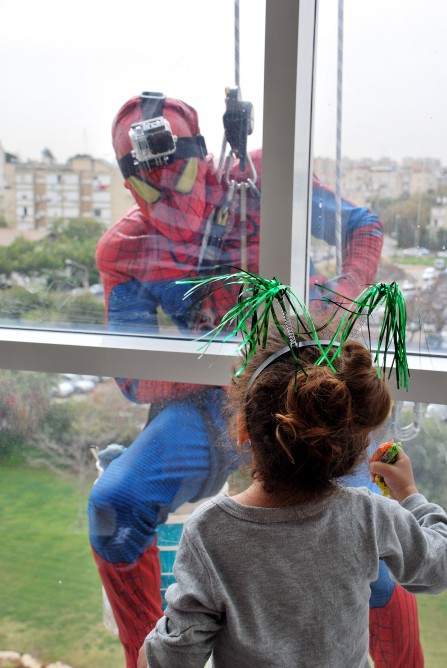 Schneider Children's Medical Center window washers