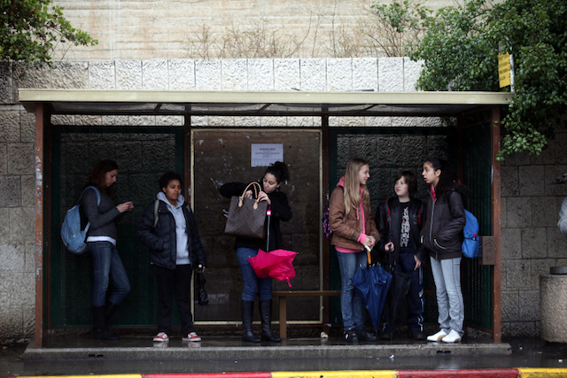 Waiting for a bus just got easier. Photo by Yossi Zamir/Flash 90