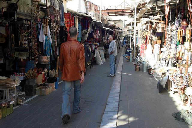 The Jaffa Flea Market.