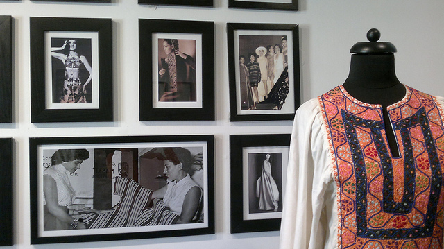 Maskit House displays an archive of vintage Maskit fashions and memorabilia. Photo by Abigail Klein Leichman
