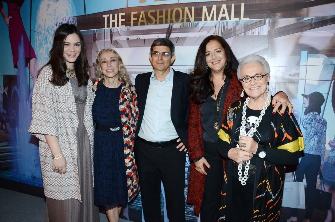 Missoni on Tel Aviv's catwalk: Teresa Missoni, Franca Sozzani, Zeev Stein, Angela Missoni and Rosita Missoni. (Courtesy of TLV Fashion Week)