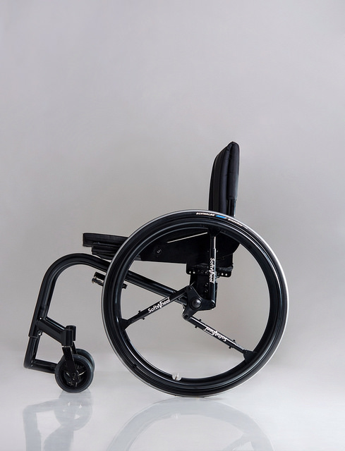 The Acrobat can fit on any wheelchair.