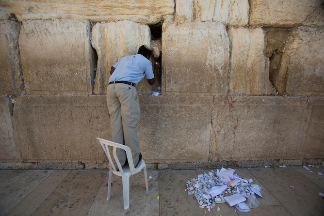 photo of the week western wall clear up israel21c