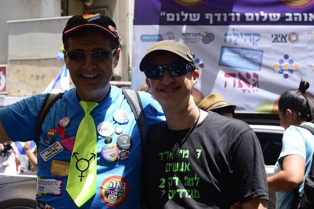 Avi Soffer, left, with Elisha Alexander.