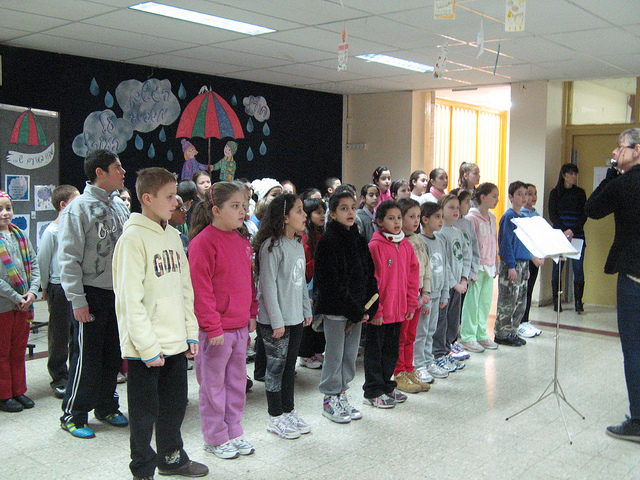 Children with and without autism sing in the Yad Hamoreh choir.