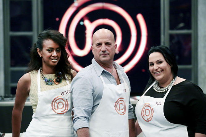 Meseret Woldimikhal, Ido Kronenberg and Nof Atamna-Ismaeel made it to the Israeli 'Master Chef' finals. (courtesy)