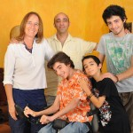 Debby and Zohar Elnatan with their sons, from left, Rotem, Inbar and Shachar. Photo by Tzvika Portnoy