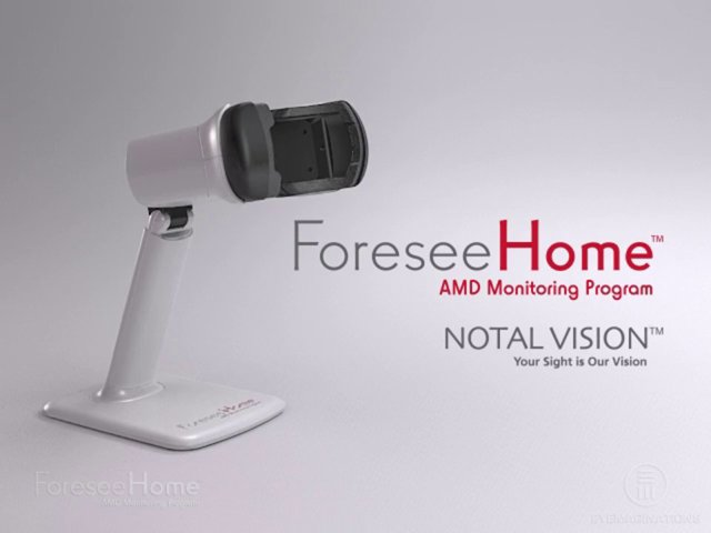 First FDA-cleared home monitor for macular degeneration. Photo courtesy of Notal Vision