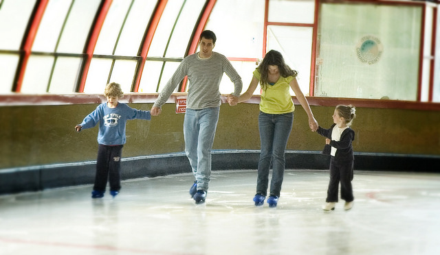 Families love skating at the Canada Center.