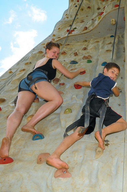 Climbing wall for kids at Top Rope.