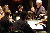 Perlman enjoys working with budding musicians.