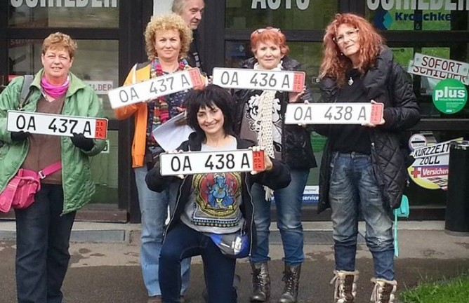 Israel Rally Queens: Orly Louk, Aviva Shachar, Nina Taube Balas, Ziva Cooper, Zehava Vider, Mali Klain.