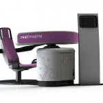 Real Imager 8 screens for breast cancer without touching the patient.