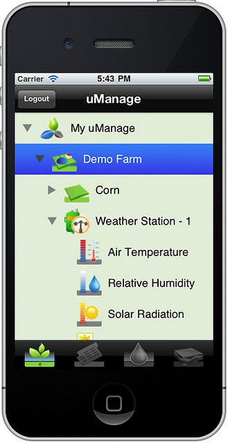 uManage on a smartphone.