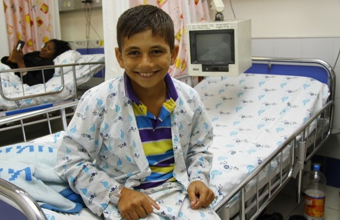 Israeli doctors saved the life of Mohamed Ashgar from Gaza in 2012. (Photo by Sheila Shalhevet)