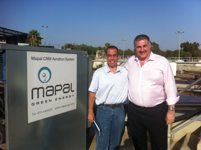 Mapal's Zeev Fisher and United Utilities' Tony Conway