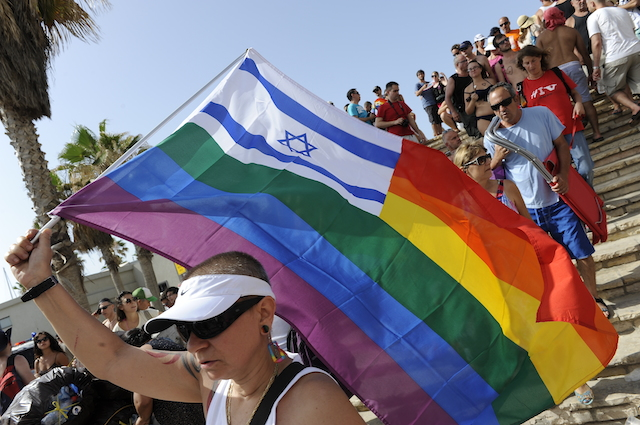A marcher at last year's Gay Pride Parade in Tel Aviv. Photo by Zuzana Janku/FLASH90