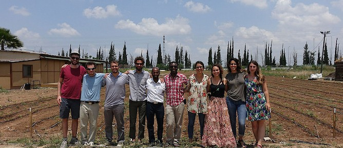The Fellows meeting with Ethiopian Israelis, learning how they use community gardens as tools of economic empowerment.