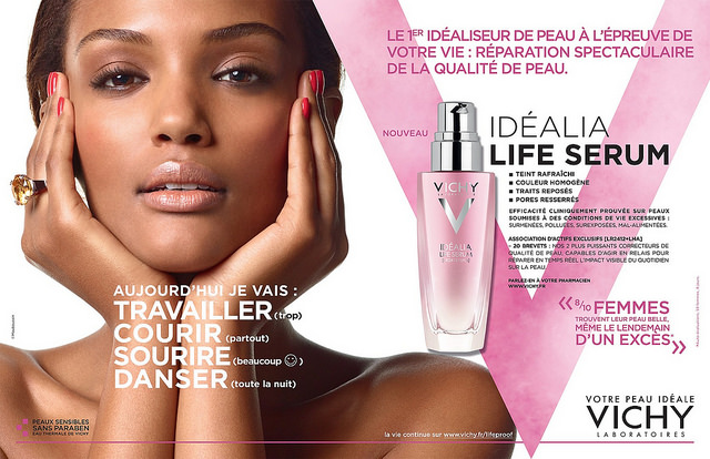 Israela Avtau in her recent Vichy campaign.