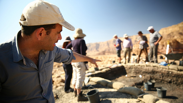 Archeologist Erez Ben Yosef directs digs at the Timna site.