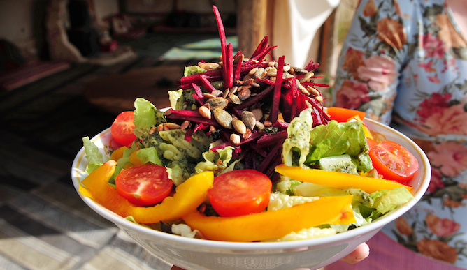 Fresh salad with everything. Photo by www.shutterstock.com