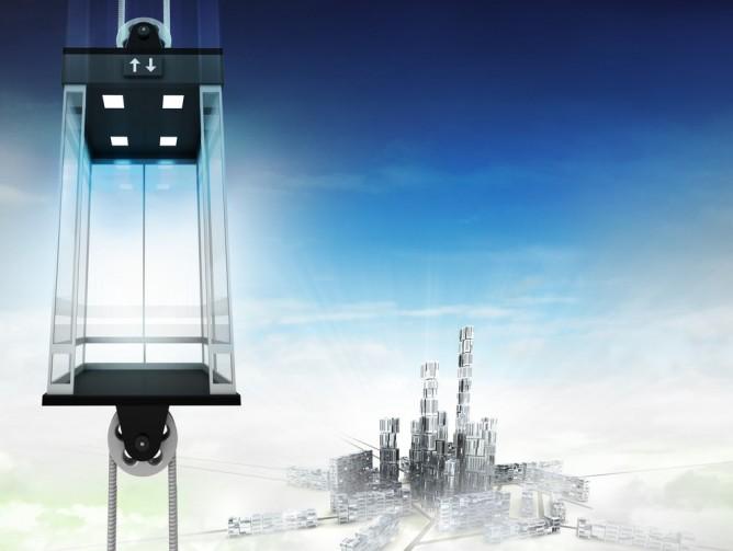 Space Elevator illustration. (Shutterstock.com)