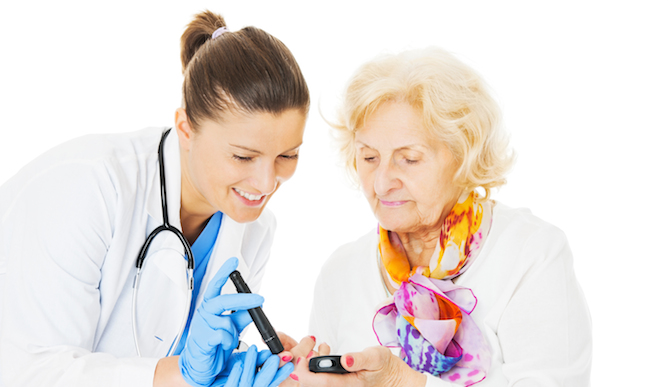 Aging better despite diabetes. Image via Shutterstock.com