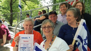 Enjoying the parade, from top clockwise, David Behrman, Vicki Weber, Lana Dishler, Michele Herman, Steve Ostrove and Bernie Dishler.